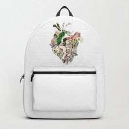 Vintage Botanical Heart Backpack