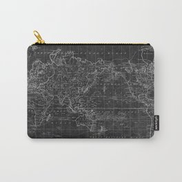 Black and White World Map (1799) Inverse Carry-All Pouch