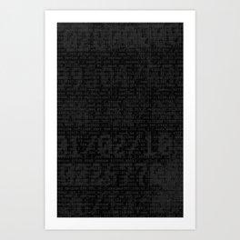 Digital Black Art Print