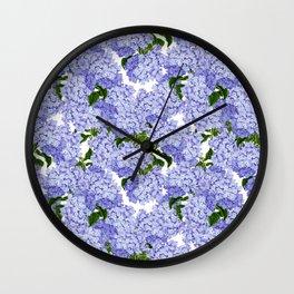 Hydrangea Wall Clock