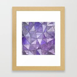 Purple Lilac Glamour Shiny Stained Glass Framed Art Print