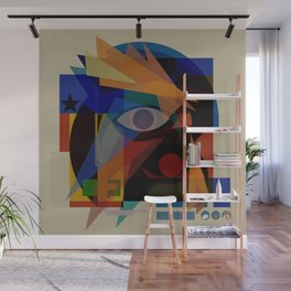 Space Face (White Square) Wall Mural
