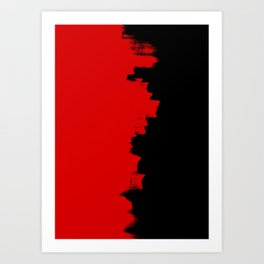 Red Impact Art Print