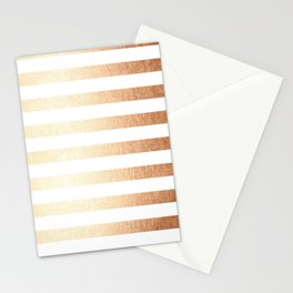 Simply Striped Deep Bronze Amber Stationery Cards