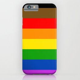 LGBTQ Pride Flag (More Colors More Pride) iPhone Case