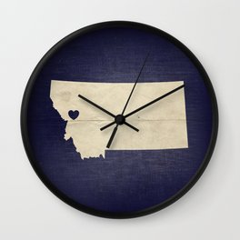 Missoula, Montana Wall Clock