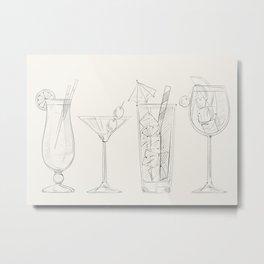 Summer Cocktails 2 Metal Print