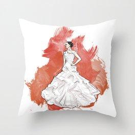 Wedding Dress Throw Pillow