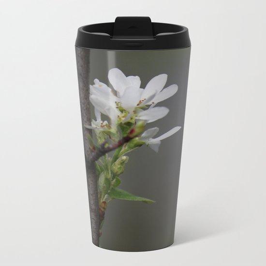 Twig and Blossom Metal Travel Mug