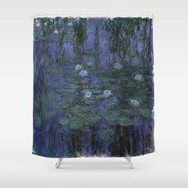 Claude Monet - Blue Water Lilies Shower Curtain