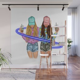 tow girl mild one wild one light cross them Wall Mural