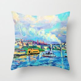 Armand Guillaumin - The Seine at Charenton - Digital Remastered Edition Throw Pillow