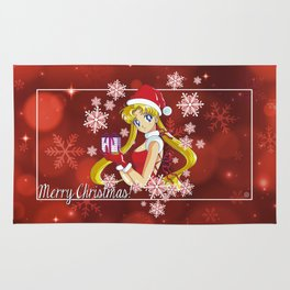Sailor Moon Merry Xmas Rug