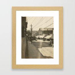 High Street View Framed Art Print
