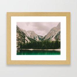 Braies Lake #3 Framed Art Print