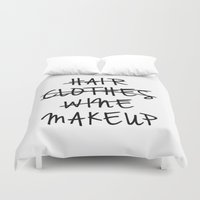 makeup Duvet Covers featuring Makeup by I Love Decor