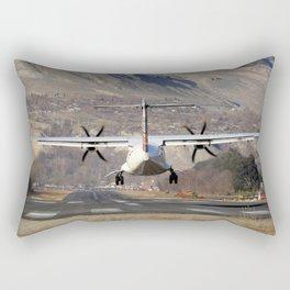 ATR ATR-42-500 Aviation Scenic Dangerous No way out Landing aircraft Rectangular Pillow