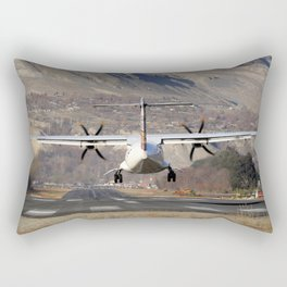 ATR ATR-42-500 Aviation Scenic Dangerous No way out Landing aircraft Rectangular Pillow