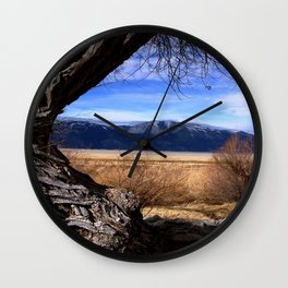 Washoe Beauty - Washoe Lake, Nevada Wall Clock