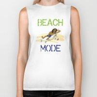depeche mode Biker Tanks featuring Beach Mode by Shimeez
