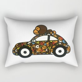 baby milo car Rectangular Pillow