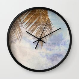 Caves & Palms Wall Clock