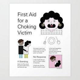 Graphic First Aid Choking Poster Art Art Print