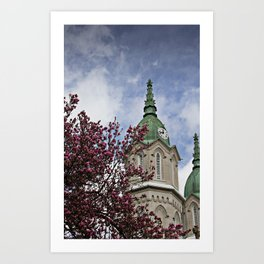 Magnolias and time Art Print