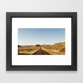 Golden Rolling Hills Road Framed Art Print