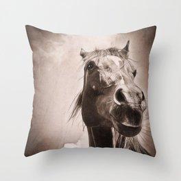 Regal Arabian Horse Spring Storm  Throw Pillow