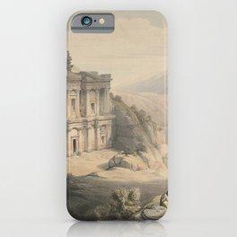 Vintage Print - The Holy Land, Vol 3 (1843) - El Deir Petra iPhone Case