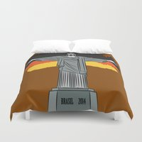 brasil Duvet Covers featuring Brasil 2014 by andy551