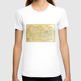 Map of Key West, Florida (1906) T-shirt