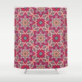Kaleidoscopic Kente Shower Curtain