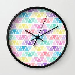 Triangle blue yellow Wall Clock