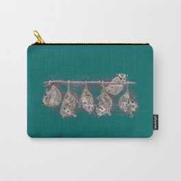 Possum Family - Teal Carry-All Pouch