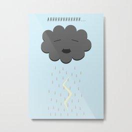 Cloud Pee Metal Print