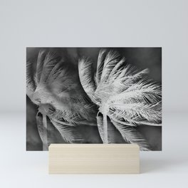 Palms black and white Mini Art Print