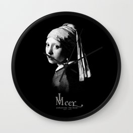Vermeer,Girl with a Pearl Earring,Painting-Barroque Wall Clock