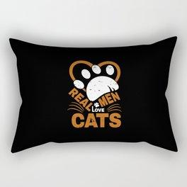 Real Men Love cats Animal Pets Rectangular Pillow