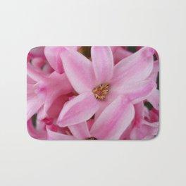 pink hyacinth flower Bath Mat