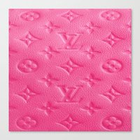 lv Canvas Prints featuring Pink LV by Luxe Glam Decor