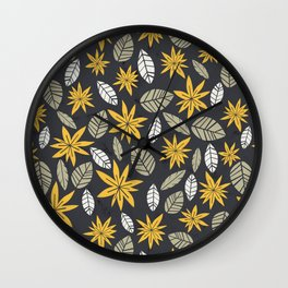 Safari floral pattern Wall Clock