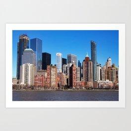 skyscraper architecture city Art Print