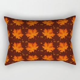 Autumn season leaf pattern Rectangular Pillow