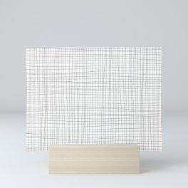 White and Black Grid - Disorderly Order Mini Art Print