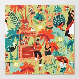 Resort living Canvas Print