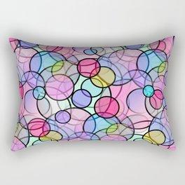 Pastel Circles Rectangular Pillow