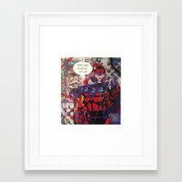 magneto Framed Art Prints featuring magneto by Marly_mcfly87