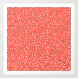 Living Coral Memphis Art Print
